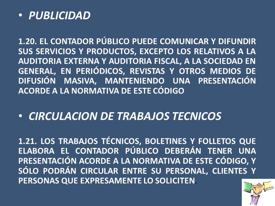 CIRCULACION DE TRABAJOS TECNICOS