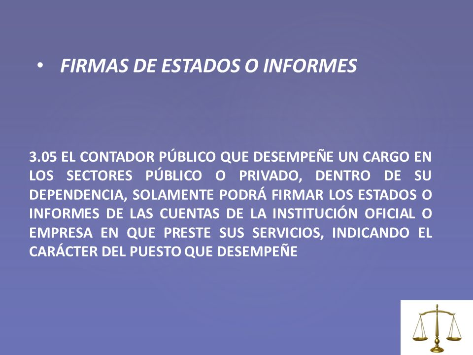 FIRMAS DE ESTADOS O INFORMES