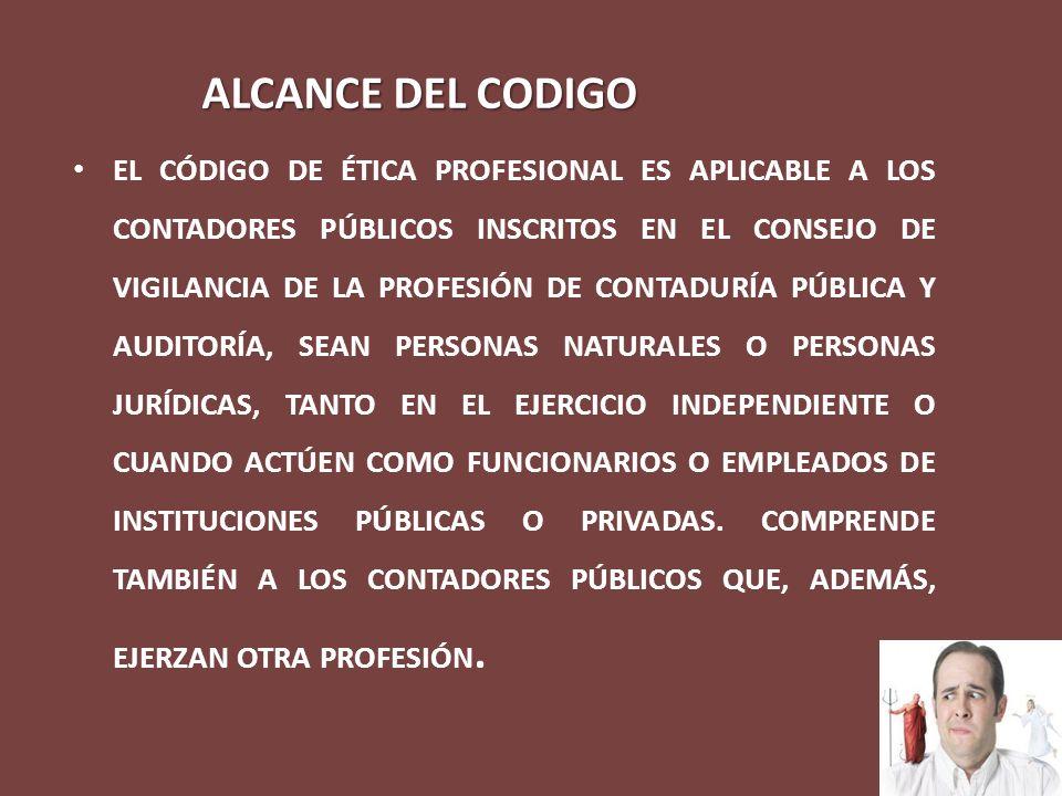 ALCANCE DEL CODIGO