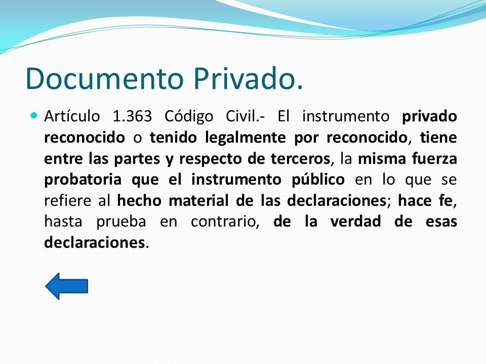 Documento Privado.
