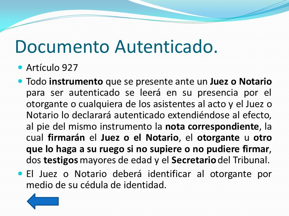 Documento Autenticado.