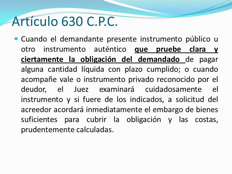 Artículo 630 C.P.C.