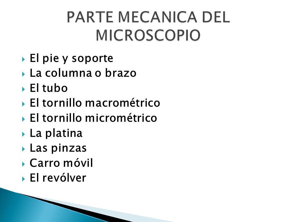 PARTE MECANICA DEL MICROSCOPIO
