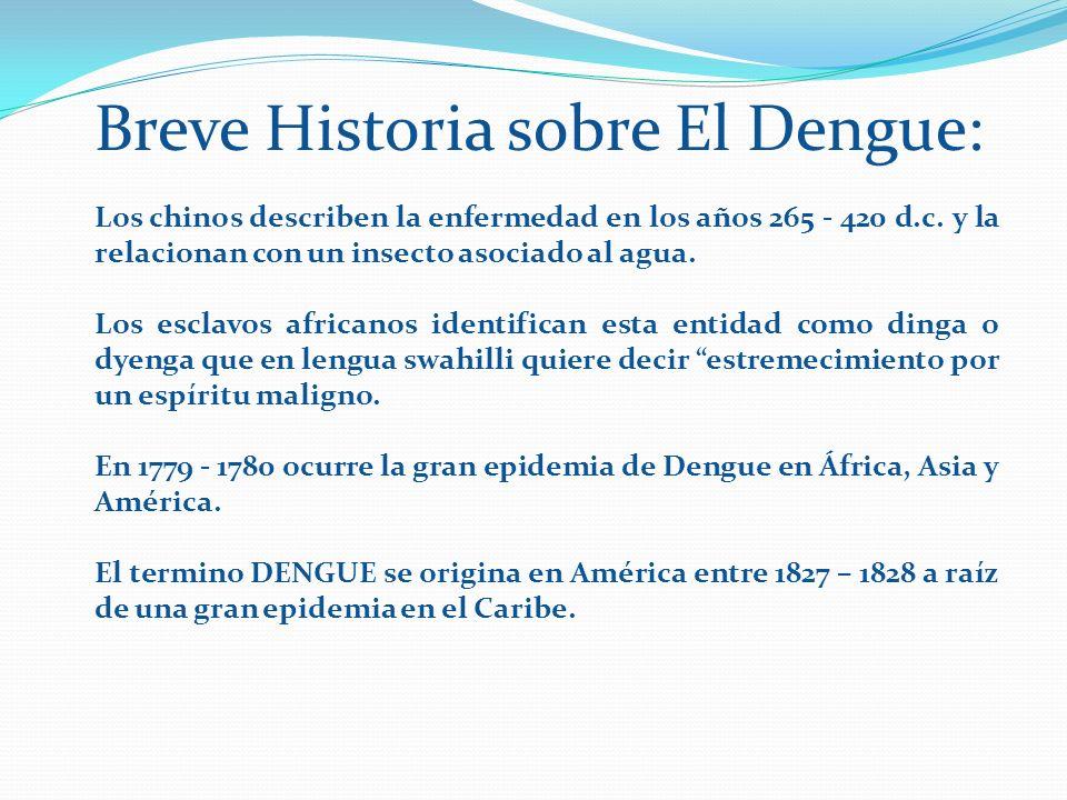 Breve Historia sobre El Dengue: