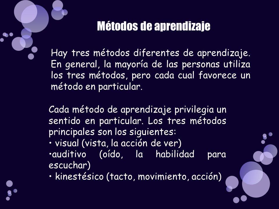 Métodos de aprendizaje