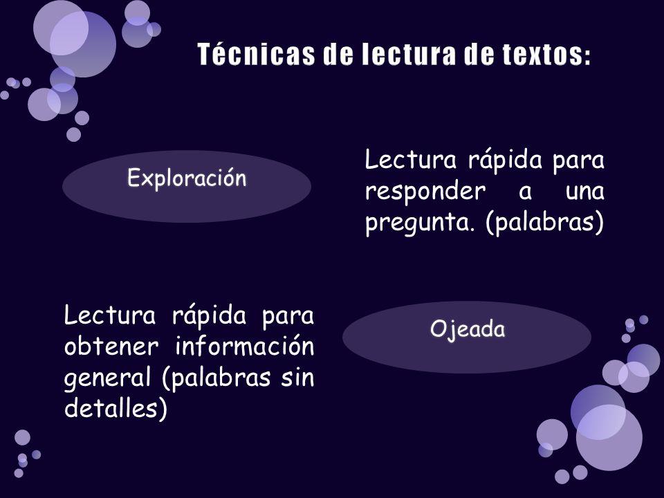 Técnicas de lectura de textos:
