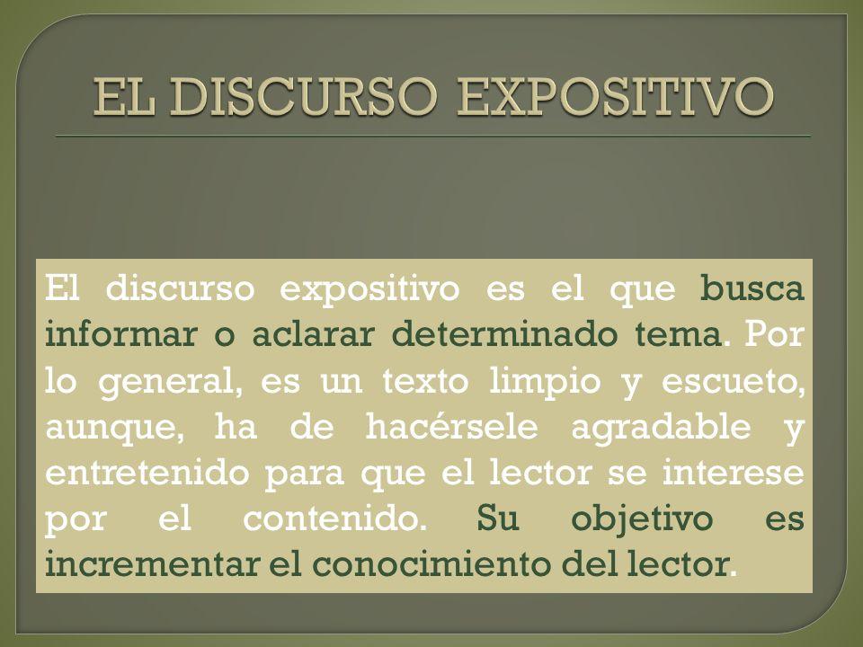 EL DISCURSO EXPOSITIVO