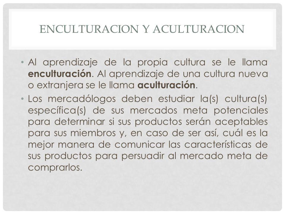 ENCULTURACION Y ACULTURACION