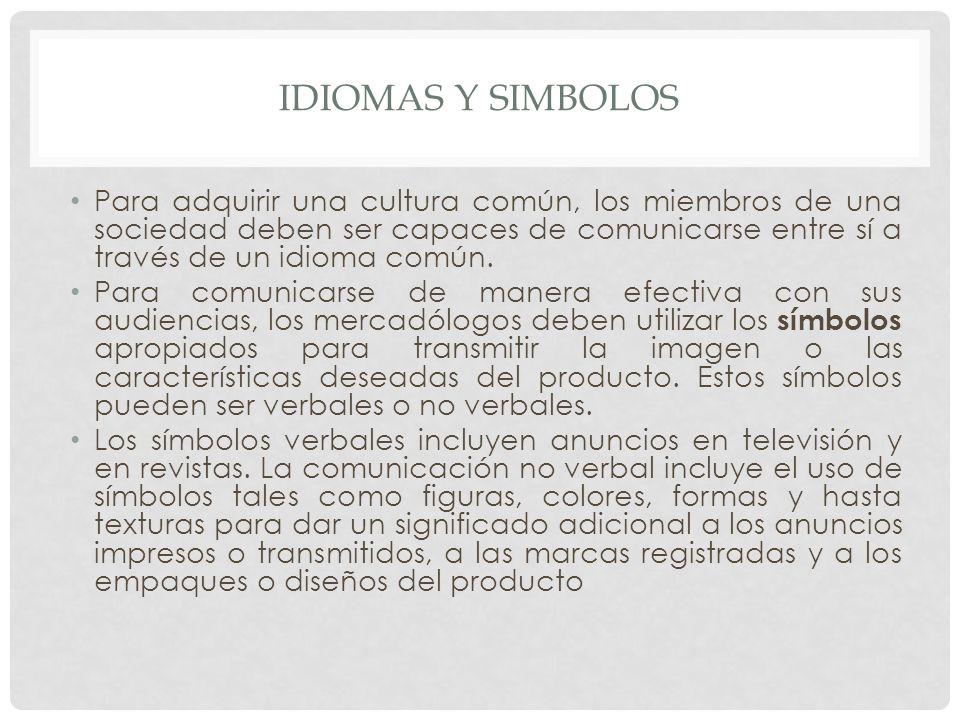 IDIOMAS Y SIMBOLOS