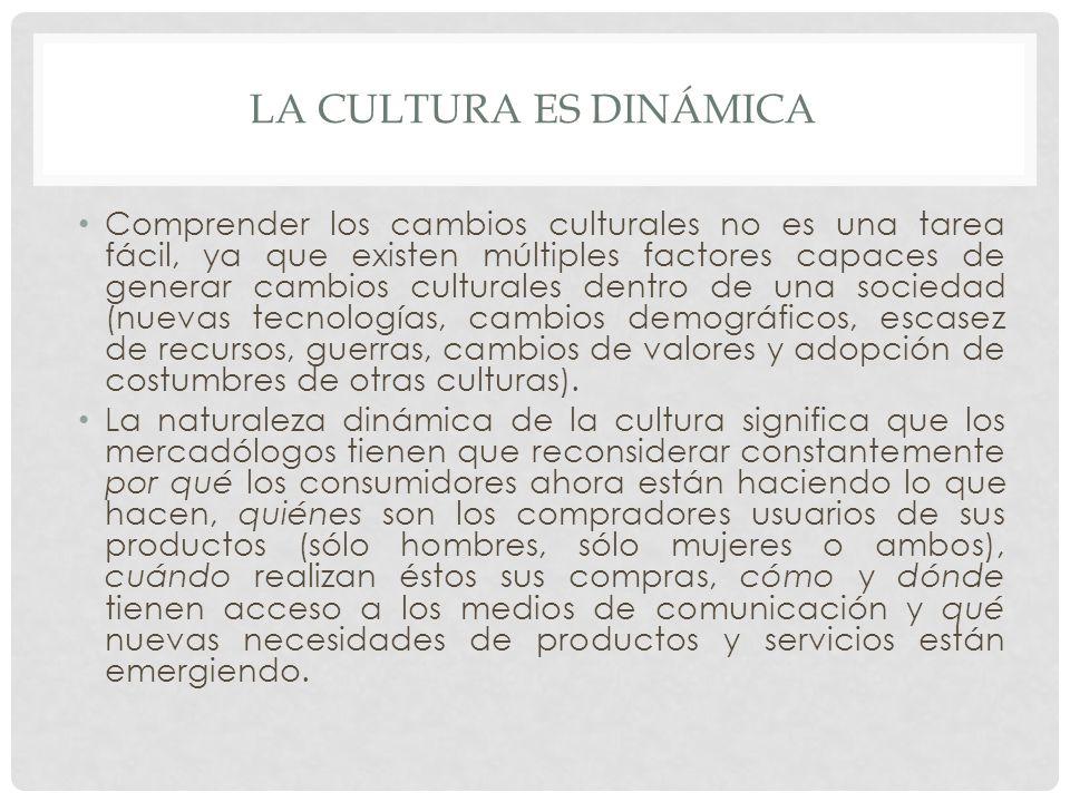 La cultura es dinámica