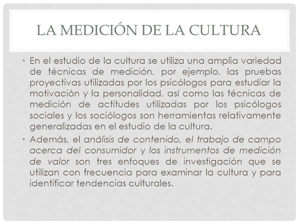 La medición de la cultura