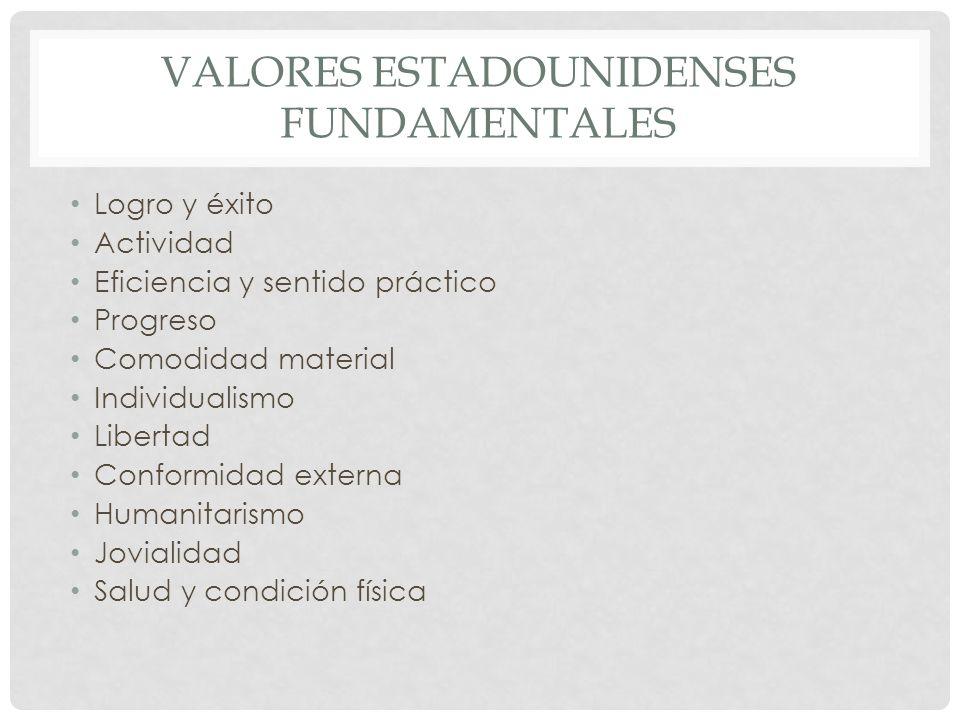 Valores estadounidenses fundamentales
