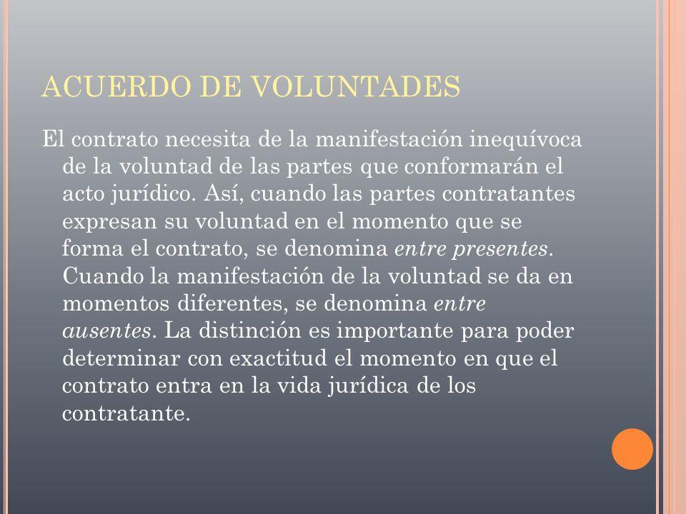 ACUERDO DE VOLUNTADES