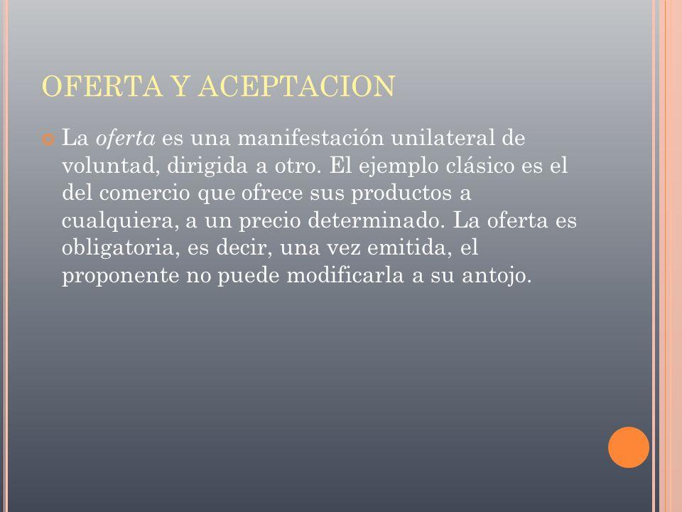 OFERTA Y ACEPTACION
