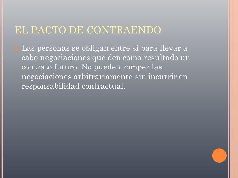EL PACTO DE CONTRAENDO