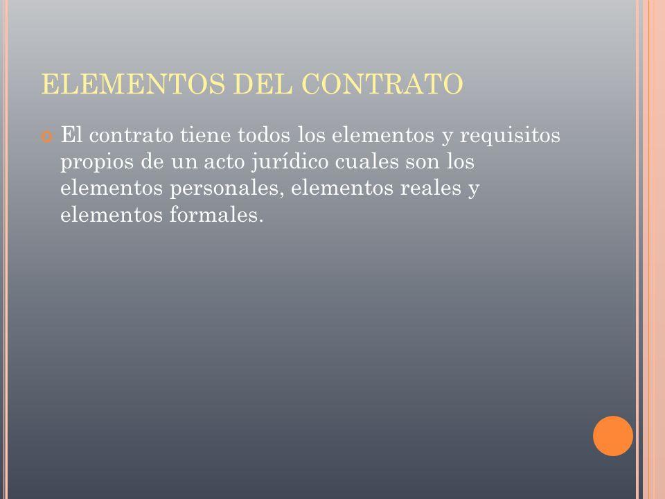 ELEMENTOS DEL CONTRATO