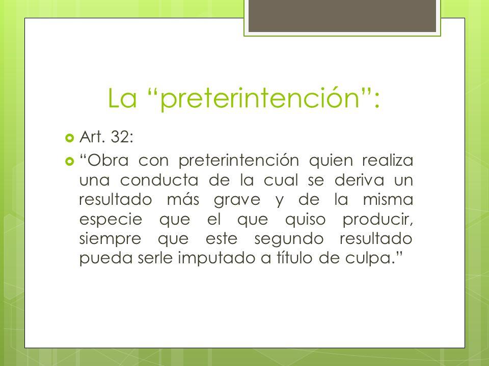La preterintención :