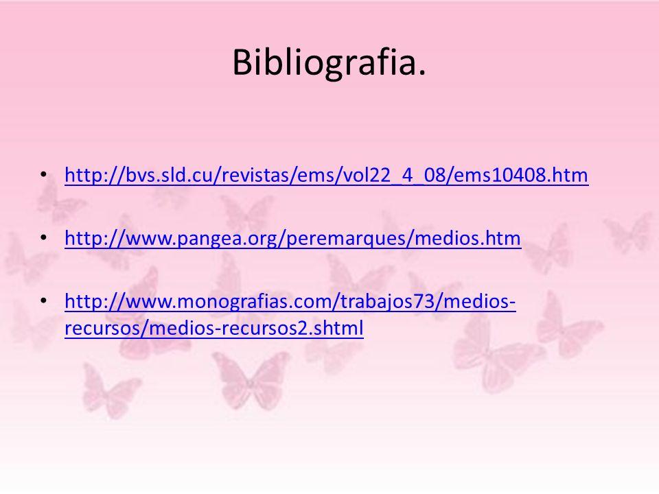 Bibliografia. http://bvs.sld.cu/revistas/ems/vol22_4_08/ems10408.htm