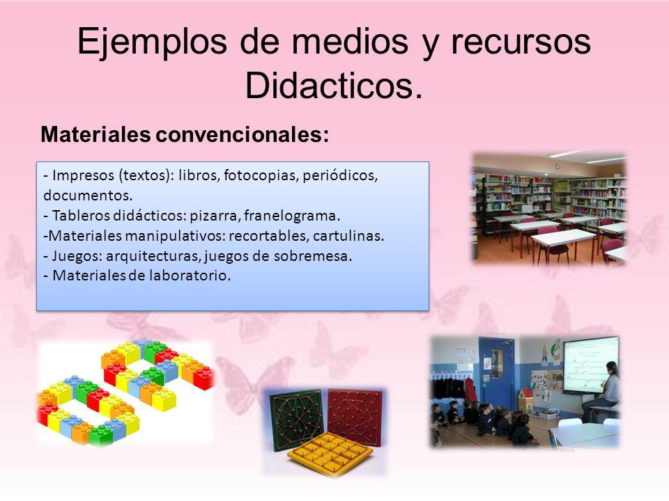 Ejemplos de medios y recursos Didacticos.