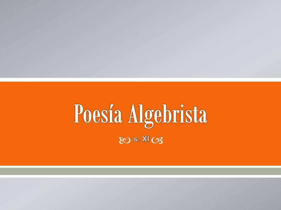 Poesía Algebrista s. XI