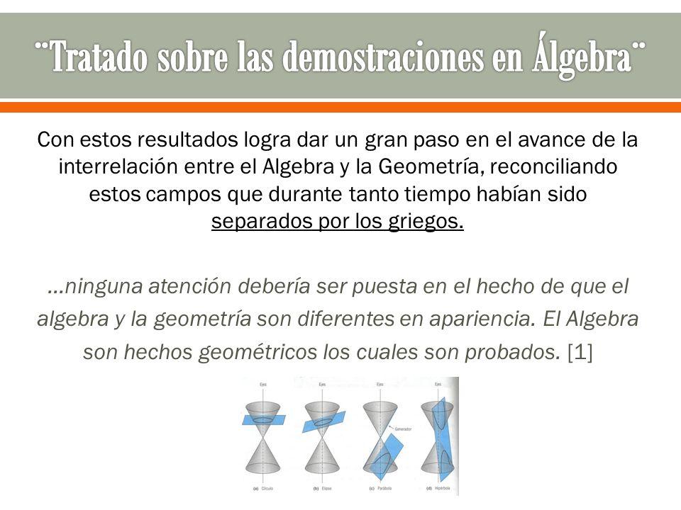 ¨Tratado sobre las demostraciones en Álgebra¨