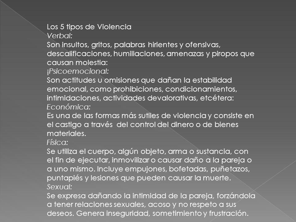 Los 5 tipos de Violencia Verbal: