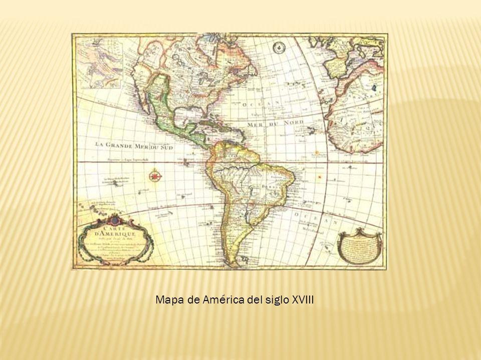Mapa de América del siglo XVIII