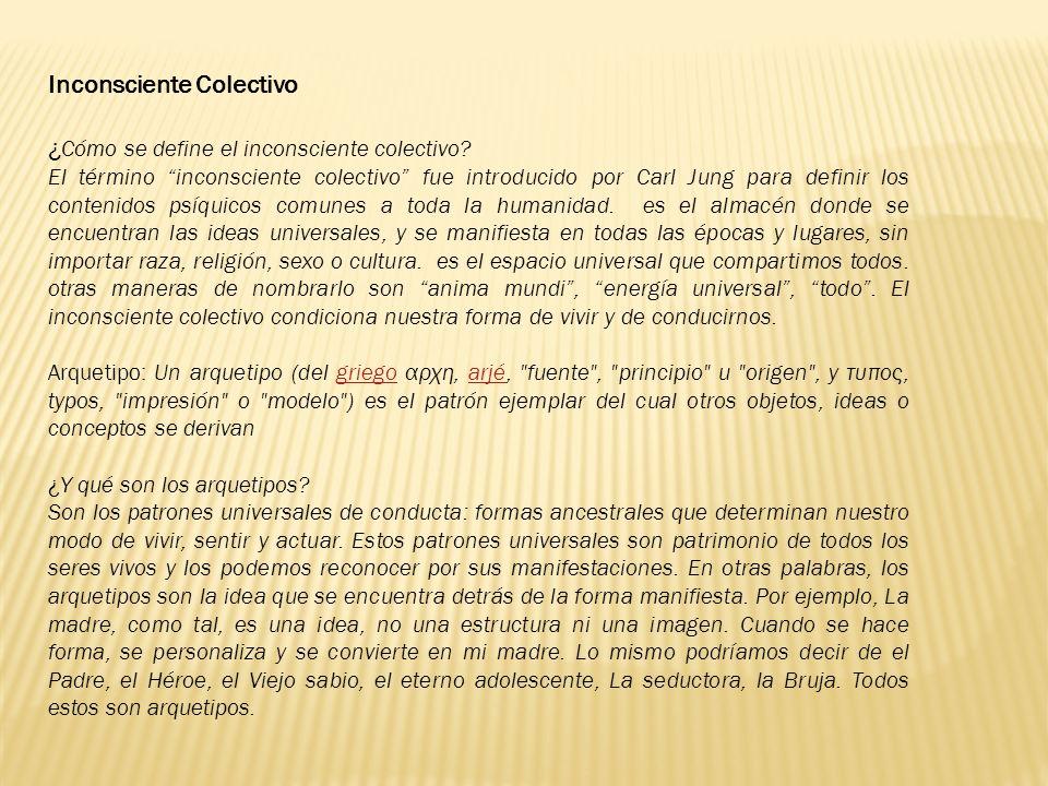 Inconsciente Colectivo ¿Cómo se define el inconsciente colectivo