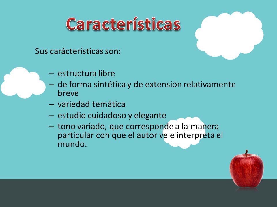 Características Sus carácterísticas son: estructura libre
