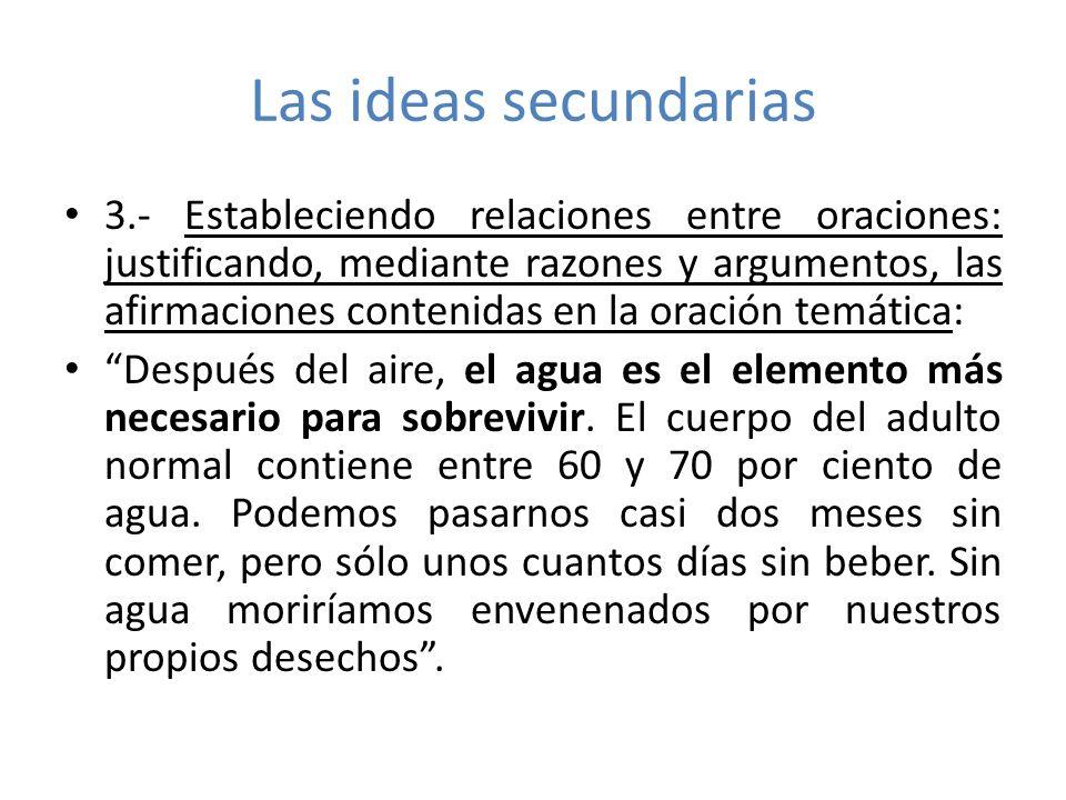 Las ideas secundarias