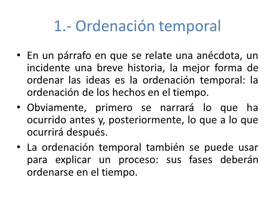 1.- Ordenación temporal