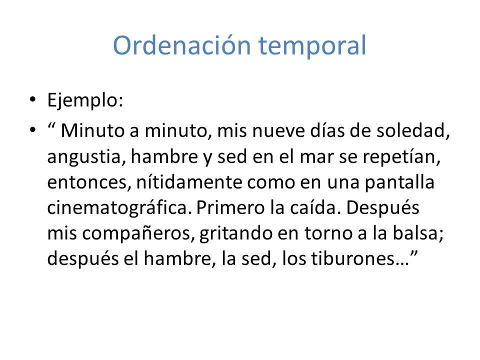 Ordenación temporal Ejemplo: