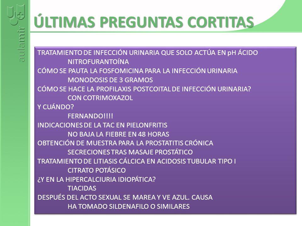 ÚLTIMAS PREGUNTAS CORTITAS