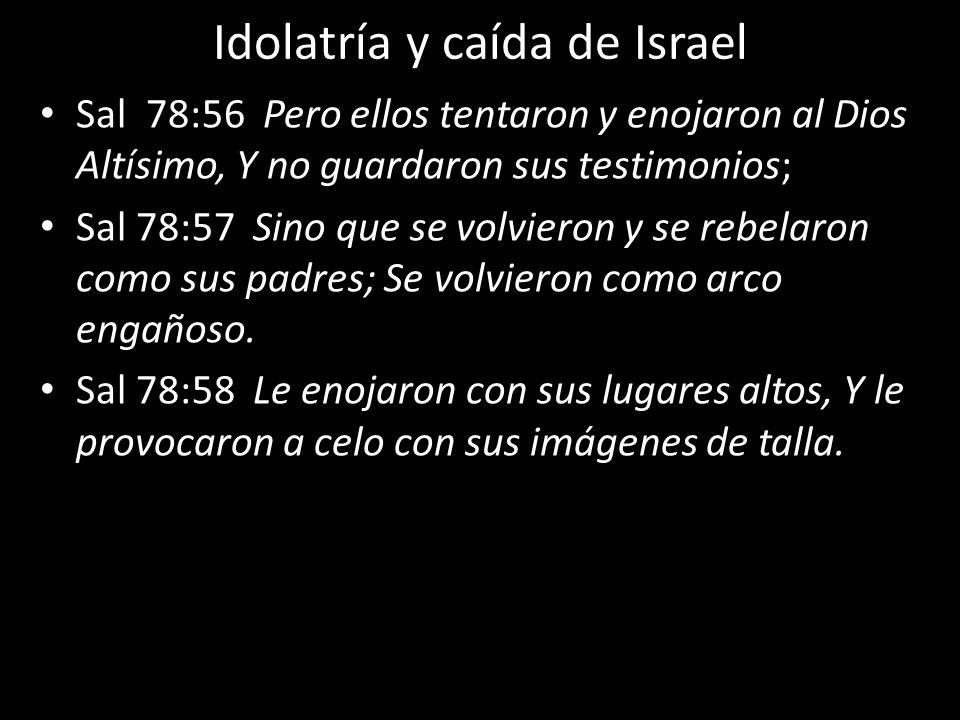 Idolatría y caída de Israel