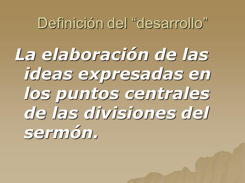 Definición del desarrollo