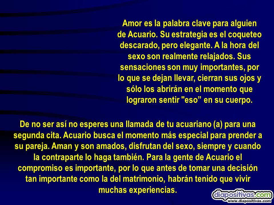 Amor es la palabra clave para alguien de Acuario