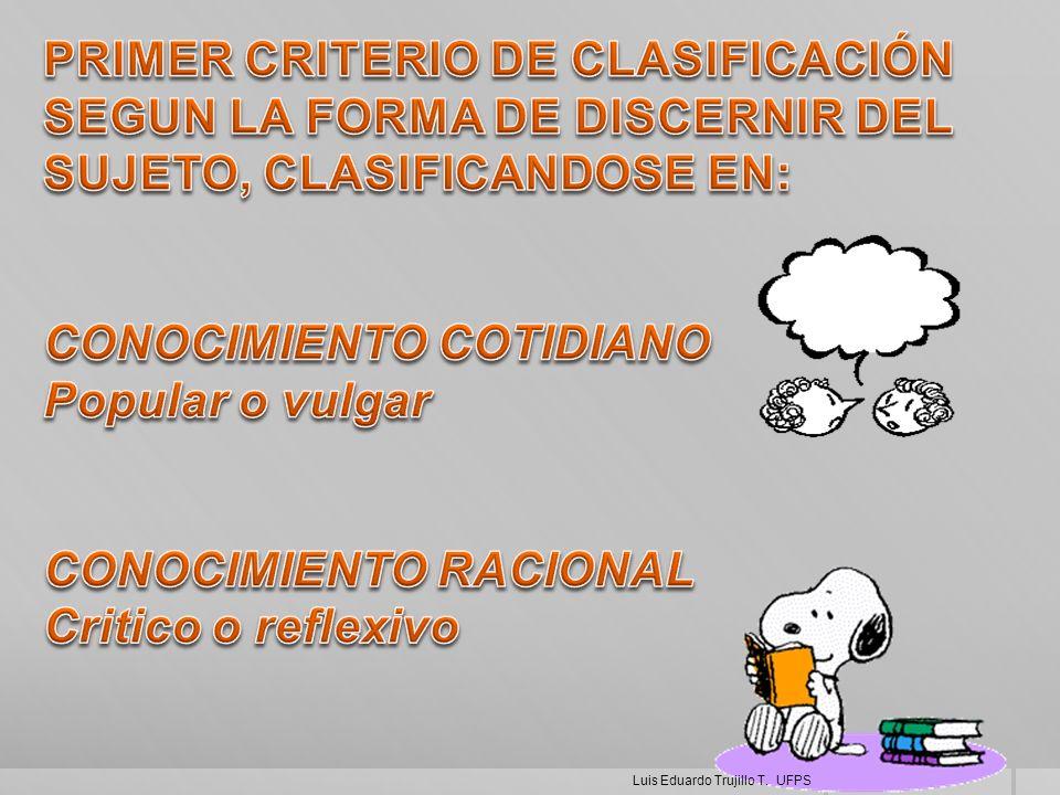 PRIMER CRITERIO DE CLASIFICACIÓN
