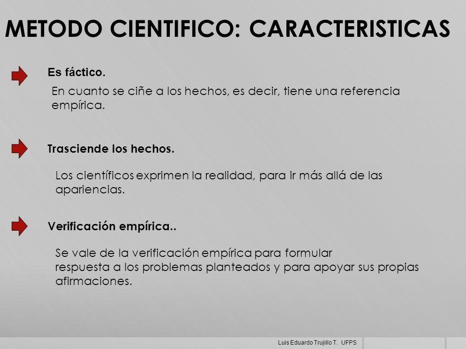 METODO CIENTIFICO: CARACTERISTICAS