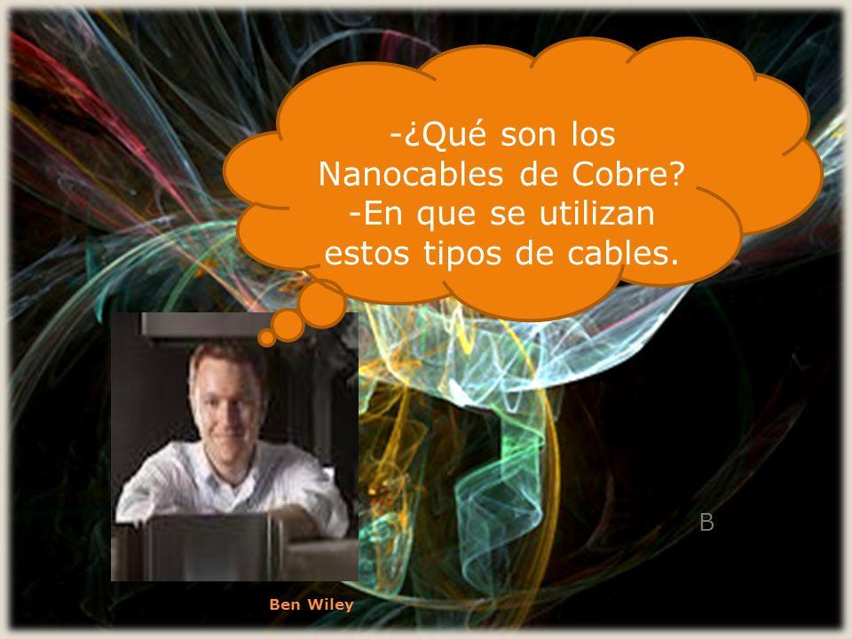 -¿Qué son los Nanocables de Cobre
