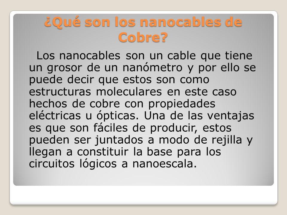 ¿Qué son los nanocables de Cobre