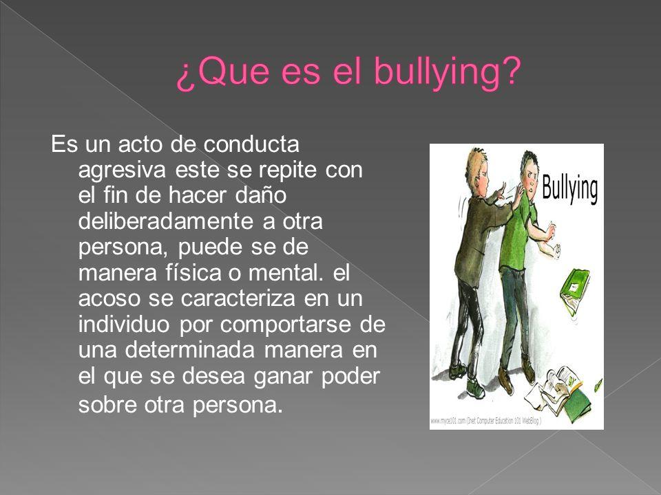 ¿Que es el bullying