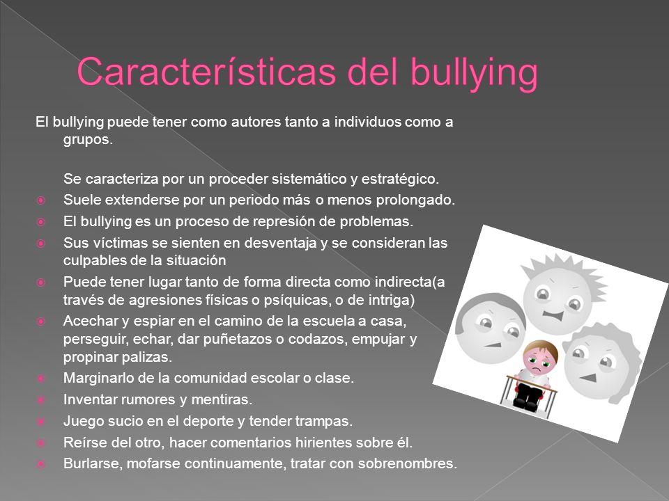 Características del bullying