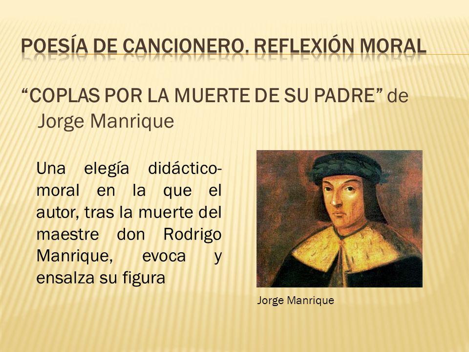 Poesía de cancionero. reflexión moral