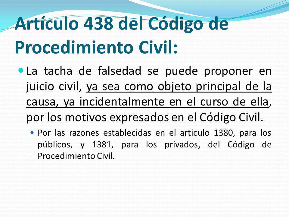 Artículo 438 del Código de Procedimiento Civil: