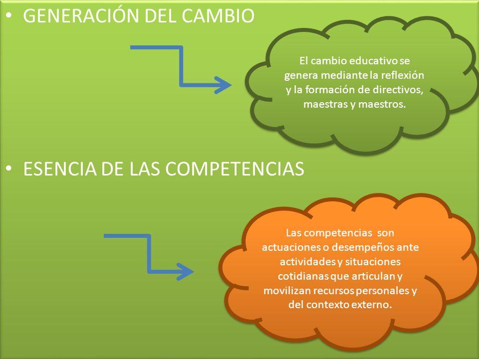 ESENCIA DE LAS COMPETENCIAS