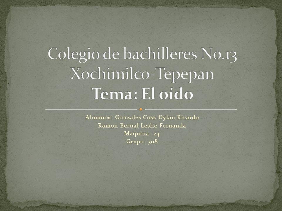Colegio de bachilleres No.13 Xochimilco-Tepepan Tema: El oído