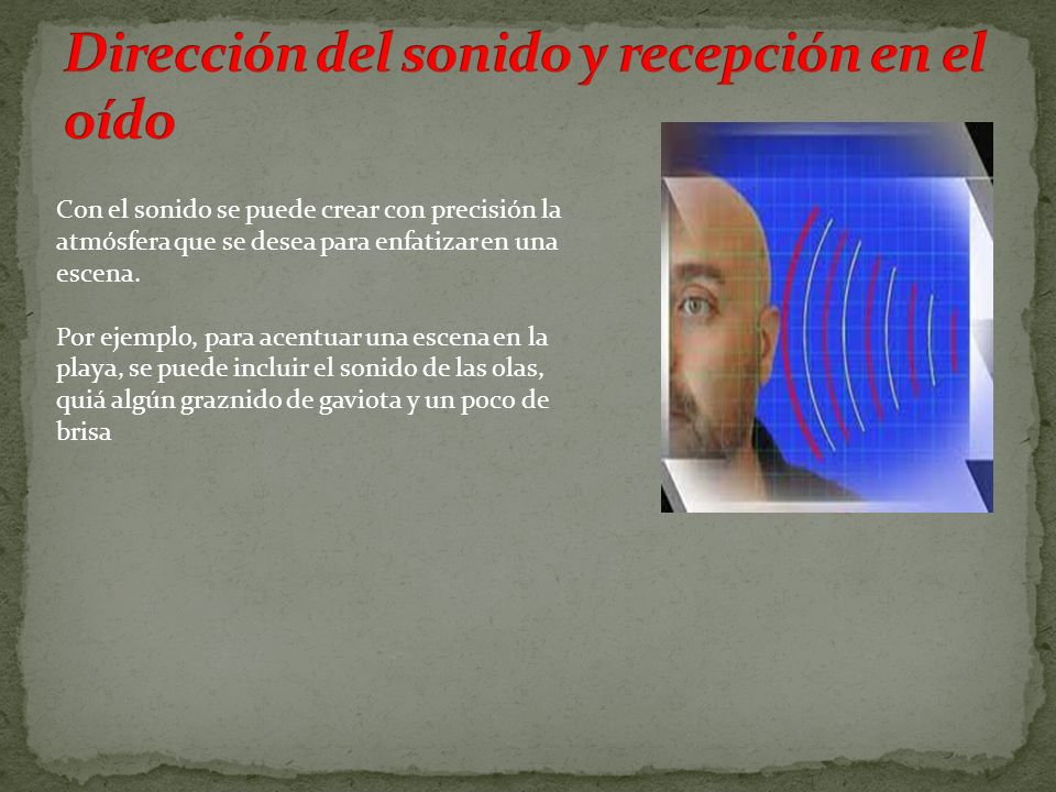 Dirección del sonido y recepción en el oído