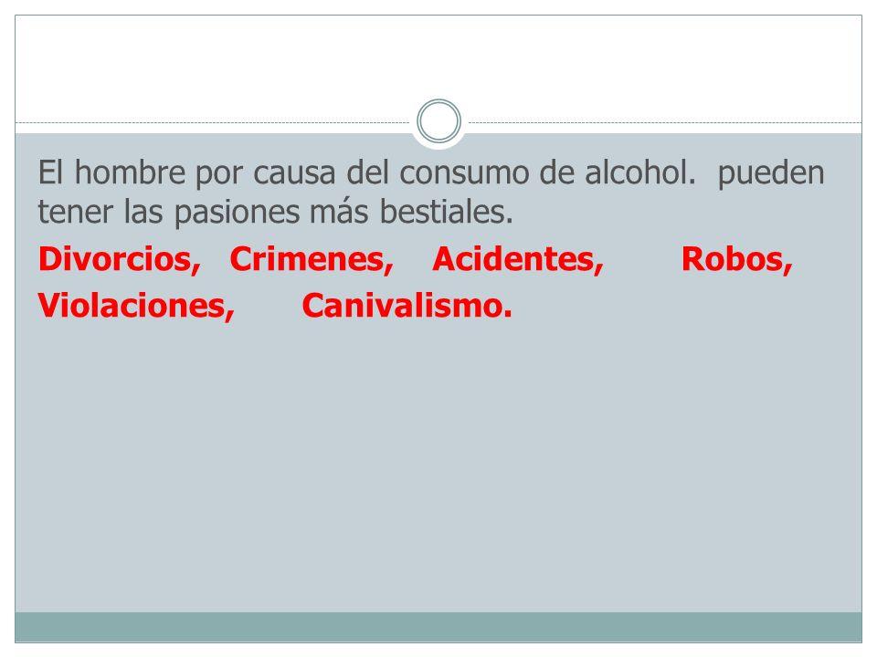 El hombre por causa del consumo de alcohol