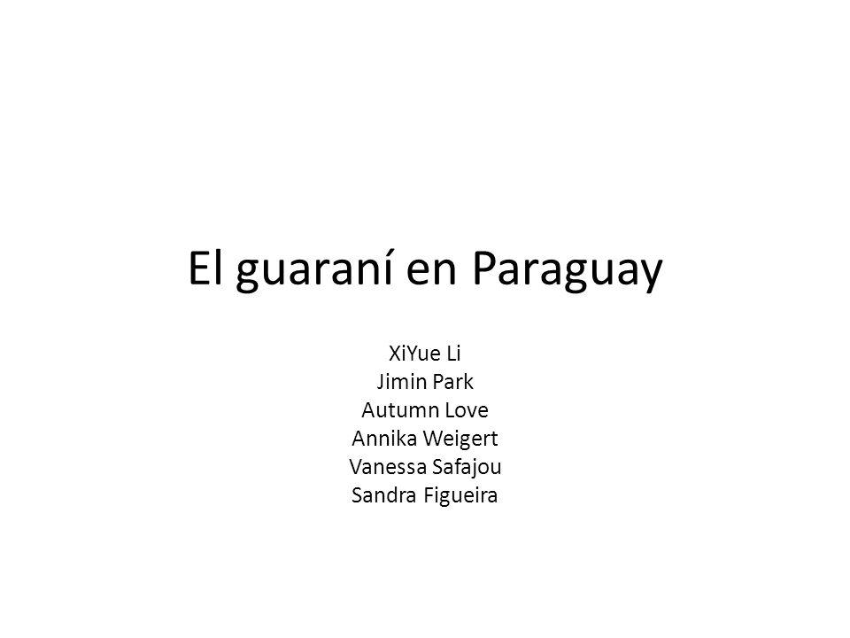 El guaraní en Paraguay XiYue Li Jimin Park Autumn Love Annika Weigert
