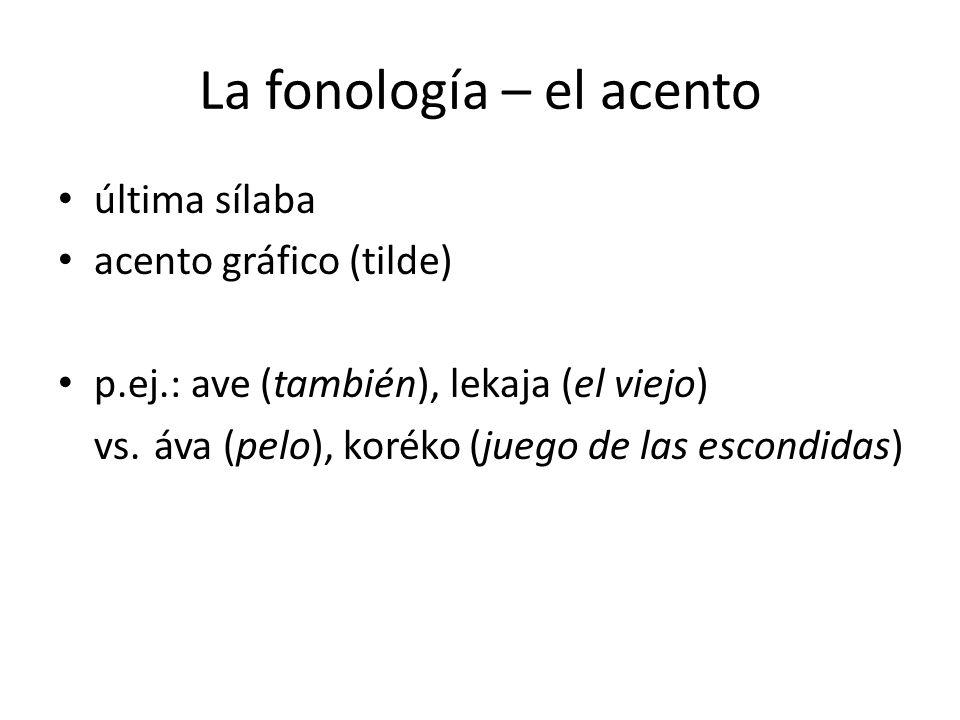 La fonología – el acento